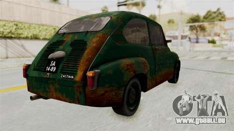 Zastava 750 Rusty pour GTA San Andreas laissé vue