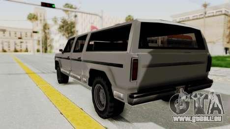 New Rancher pour GTA San Andreas sur la vue arrière gauche