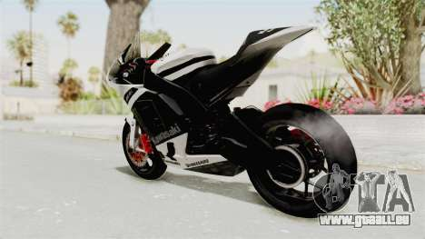 Kawasaki Ninja ZX-RR Streetrace für GTA San Andreas linke Ansicht