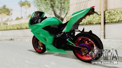 Kawasaki Ninja 250R Race pour GTA San Andreas laissé vue