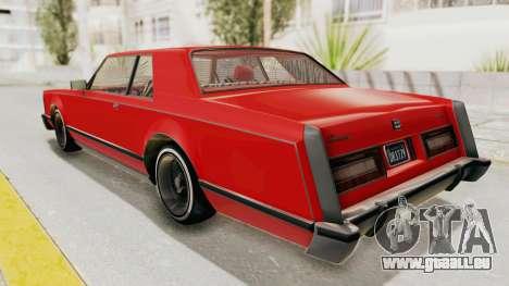 GTA 5 Dundreary Virgo Classic Custom v2 pour GTA San Andreas laissé vue