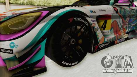 Mercedes-Benz SLS AMG GT3 2016 Goodsmile Racing für GTA San Andreas Rückansicht