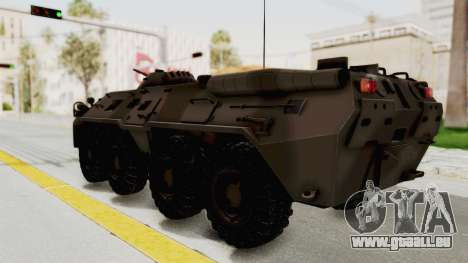 BTR-80 Desert Turkey für GTA San Andreas linke Ansicht