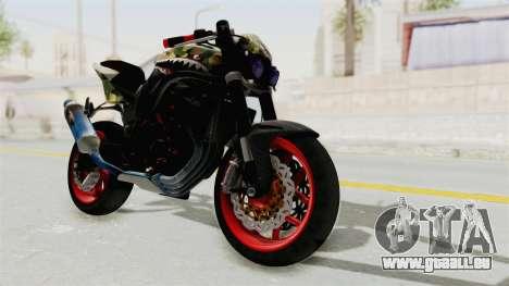Kawasaki Ninja 250R Naked Camouflage für GTA San Andreas