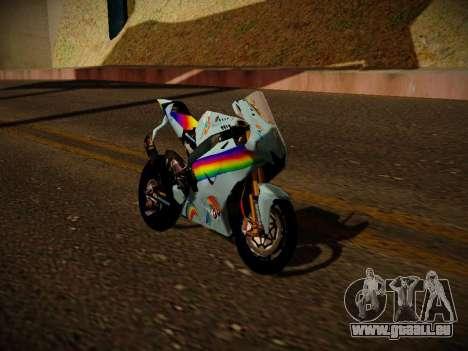 Yamaha YZR M1 2016 Rainbow Dash für GTA San Andreas zurück linke Ansicht