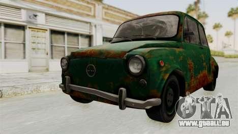 Zastava 750 Rusty pour GTA San Andreas vue de droite