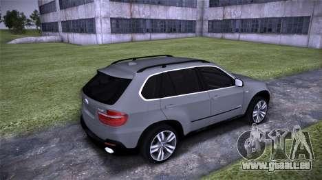BMW X5 E70 pour GTA San Andreas vue de droite