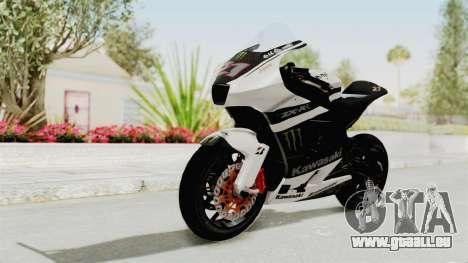 Kawasaki Ninja ZX-RR Streetrace für GTA San Andreas zurück linke Ansicht