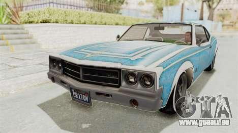 GTA 5 Declasse Sabre GT2 IVF pour GTA San Andreas moteur
