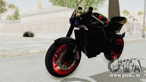 Kawasaki Ninja 250R Naked Camouflage für GTA San Andreas rechten Ansicht