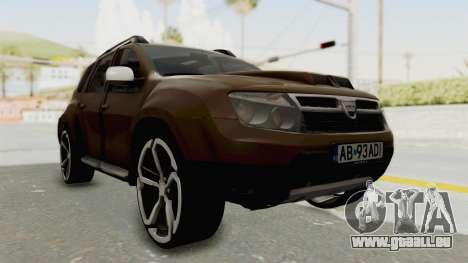 Dacia Duster 2010 Tuning pour GTA San Andreas vue de droite