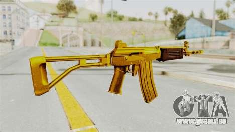 Galil Gold für GTA San Andreas zweiten Screenshot