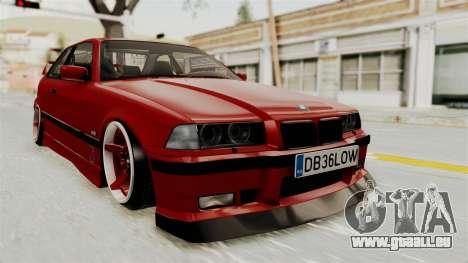 BMW 325i E36 Coupe pour GTA San Andreas vue de droite