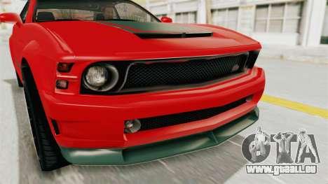 GTA 5 Vapid Dominator v2 SA Lights für GTA San Andreas Innenansicht