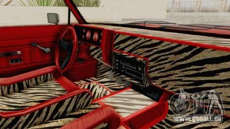 GTA 5 Dundreary Virgo Classic Custom v2 pour GTA San Andreas vue intérieure