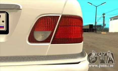 Mercedes-Benz E420 W210 pour GTA San Andreas vue de droite