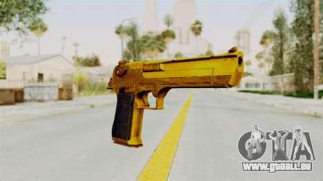 Desert Eagle Gold für GTA San Andreas zweiten Screenshot