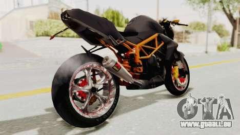 Kawasaki ER 6N Superbike pour GTA San Andreas sur la vue arrière gauche