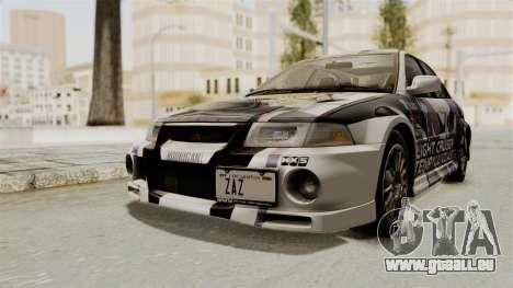 Mitsubishi Lancer Evolution VI Tenryuu Itasha für GTA San Andreas rechten Ansicht