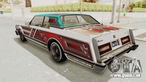 GTA 5 Dundreary Virgo Classic Custom v2 pour GTA San Andreas vue de dessus