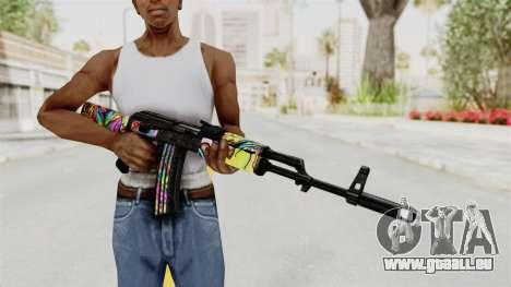 AK-47 Cannabis Camo pour GTA San Andreas troisième écran
