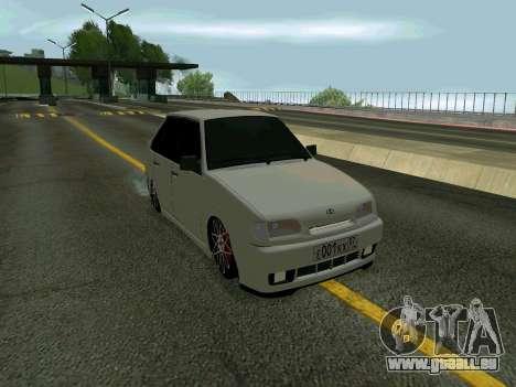 VAZ 2114 KBR pour GTA San Andreas sur la vue arrière gauche