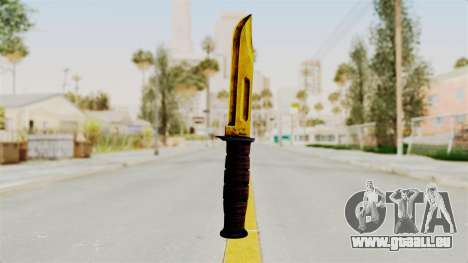 Knife Gold pour GTA San Andreas