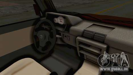 Toyota Kijang Prinz Eugen Itasha pour GTA San Andreas vue intérieure