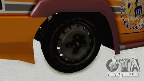 Toyota Kijang Prinz Eugen Itasha für GTA San Andreas Rückansicht