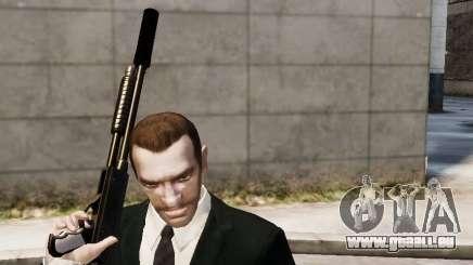 Der Schalldämpfer auf der Waffe für GTA 4