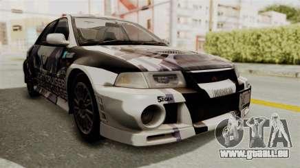 Mitsubishi Lancer Evolution VI Tenryuu Itasha für GTA San Andreas