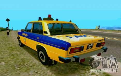 HUNTER-2106 GAI v2.0 pour GTA San Andreas sur la vue arrière gauche