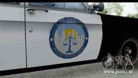 ГАЗ 24 la Police Highway Patrol pour GTA San Andreas vue arrière