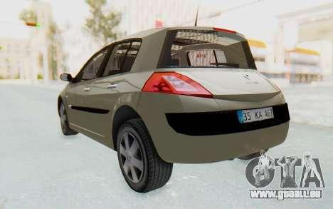 Renault Megane 2 pour GTA San Andreas vue de droite
