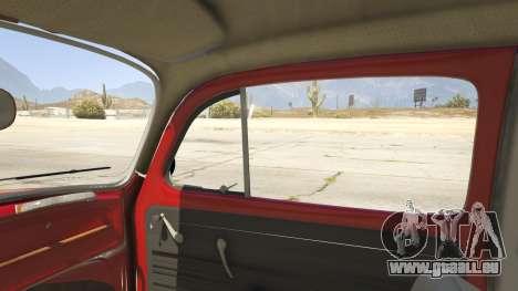 GTA 5 1963 Volkswagen Beetle 1.0.1 rechte Seitenansicht