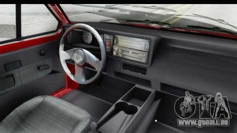 Volkswagen Golf Citi 1.8 1998 pour GTA San Andreas vue intérieure