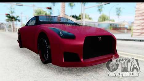 Nissan GT-R R35 Top Speed pour GTA San Andreas vue de droite