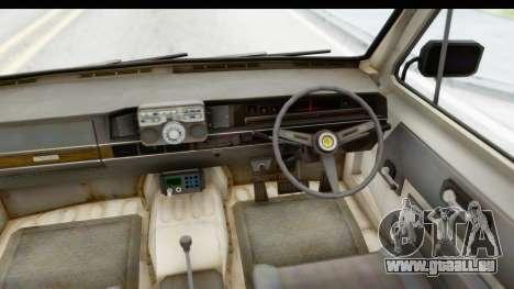 MGSV Phantom Pain Ambulance pour GTA San Andreas vue intérieure
