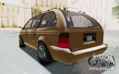 GTA 5 Vapid Minivan für GTA San Andreas rechten Ansicht