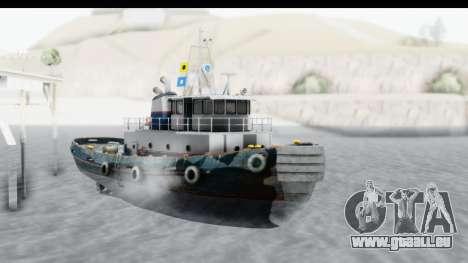 GTA 5 Buckingham Tug Boat v2 pour GTA San Andreas vue de droite