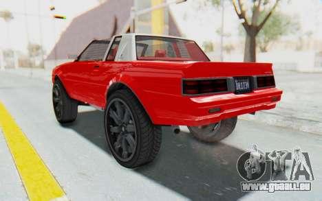 GTA 5 Willard Faction Custom Donk v2 IVF pour GTA San Andreas sur la vue arrière gauche