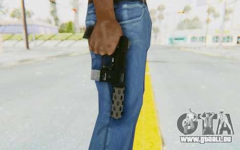 GTA 5 Vom Feuer Machine Pistol für GTA San Andreas dritten Screenshot