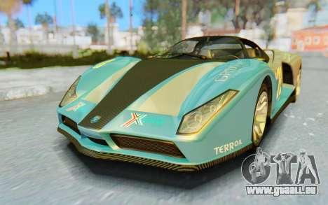 GTA 5 Grotti Cheetah IVF für GTA San Andreas Unteransicht
