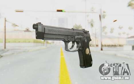 Tariq Iraqi Pistol Back v1 Silver pour GTA San Andreas