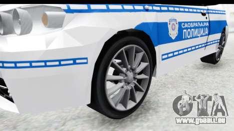 Fiat Punto Mk2 Policija pour GTA San Andreas vue arrière