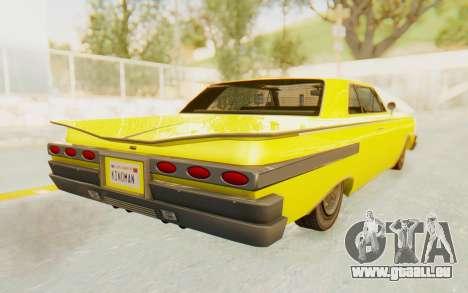 GTA 5 Declasse Voodoo für GTA San Andreas linke Ansicht