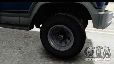 Ford Bronco 1980 pour GTA San Andreas vue arrière