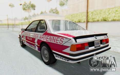 BMW M635 CSi (E24) 1984 HQLM PJ2 pour GTA San Andreas
