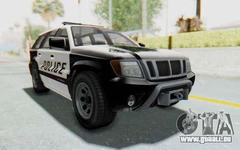 Canis Seminole Police Car pour GTA San Andreas vue de droite
