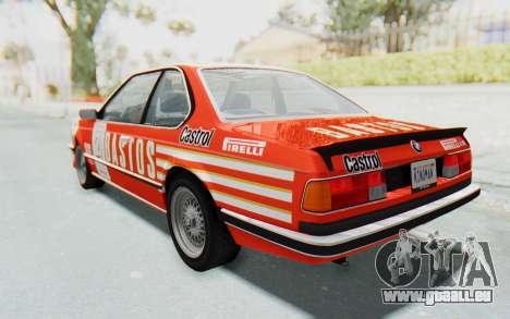 BMW M635 CSi (E24) 1984 HQLM PJ3 pour GTA San Andreas vue de côté